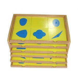Gabinete geométrico Montessori