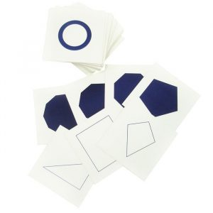 Tarjetas para gabinete geométrico Montessori
