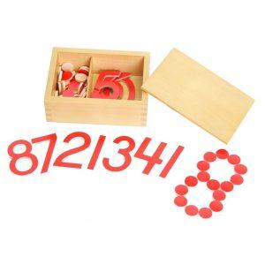Números y contadores Montessori