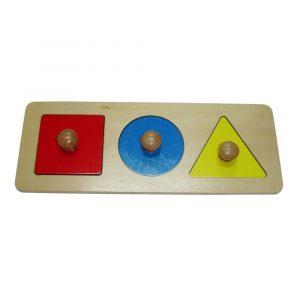 Puzzle Montessori primeras formas geométricas
