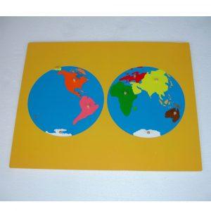 Puzzle continentes Montessori