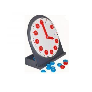 Reloj de madera con manecillas móviles Montessori
