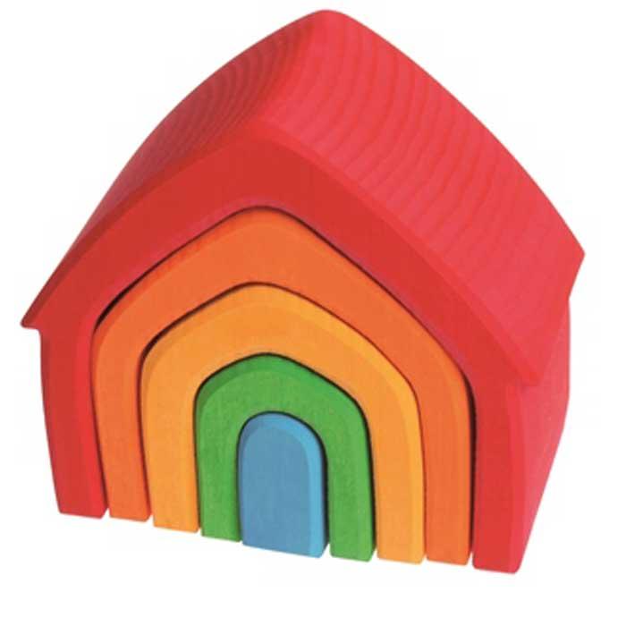 Casita apilable – juguetes creativos de madera