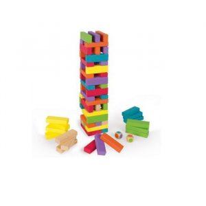 Equilibloc juego de mesa en madera de colores