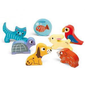 Puzzle de encajar piezas animales domésticos