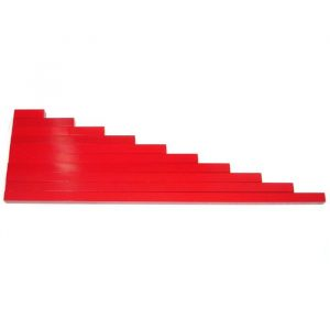 Barras rojas largas, material Montessori