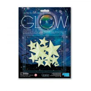 Estrellas fluorescentes grandes 3D