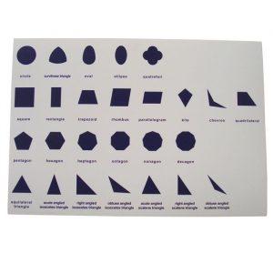 Hoja de control para gabinete geométrico Montessori