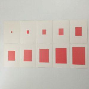 Tarjetas para la torre rosa Montessori