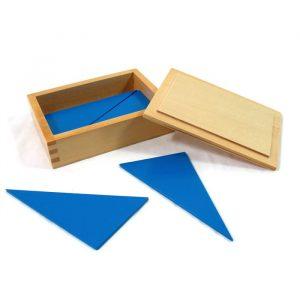 Triángulos azules Montessori