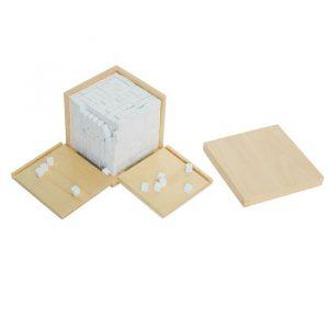 Caja de volumen Montessori 1000 cubos