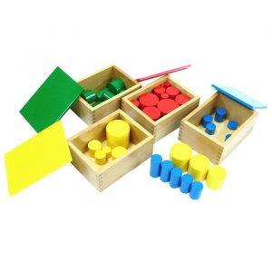 Cilindros sin botón Montessori