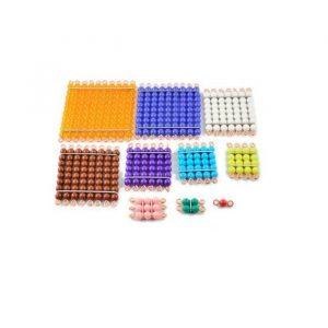 Cuadrados de perlas Montessori