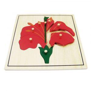 Puzzle flor Montessori