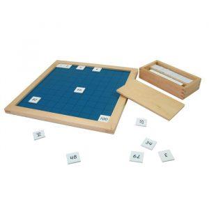 Tablero del 1 al 100 Montessori + hoja de control
