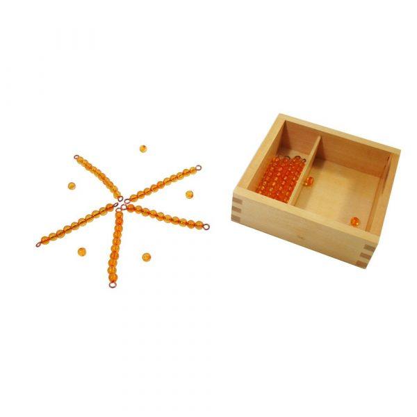 Barras de perlas para tabla de Seguin Montessori