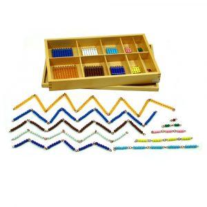 Caja de cadenas cortas Montessori