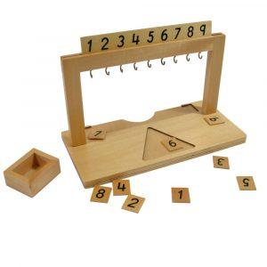 Colgador para perlas Montessori del 1 al 9