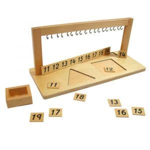 Colgador para perlas Montessori del 11 al 19