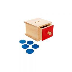 Hucha de madera con cajón