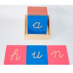 Letras minúsculas con hendidura Montessori