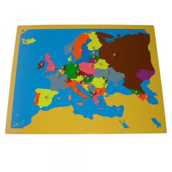 Puzzle de Europa Montessori
