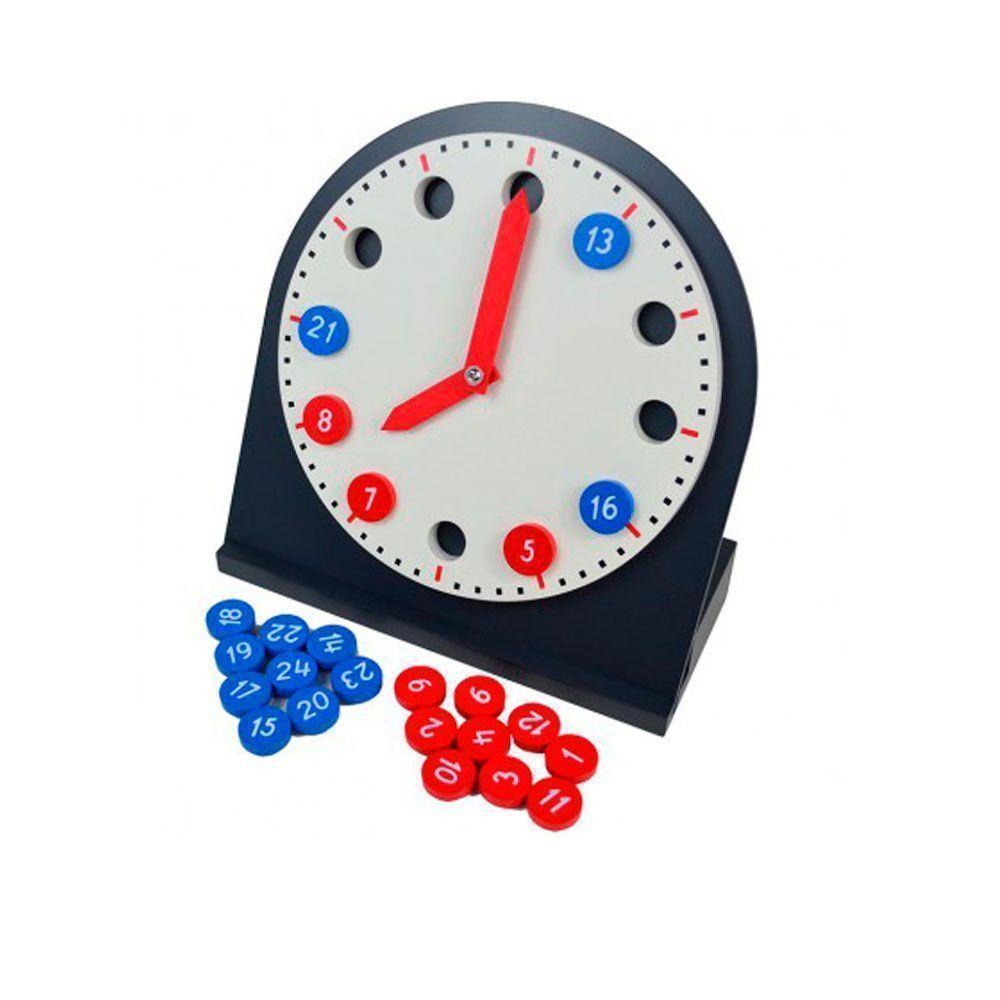 Reloj De Madera Con Manecillas Móviles Montessori Alupé