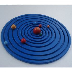 Sistema solar de madera con raíles premium Montessori