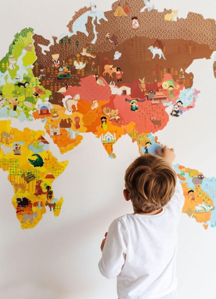 mapas para niños