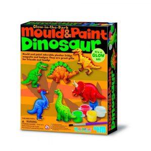 Crea imanes de escayola dinosaurios