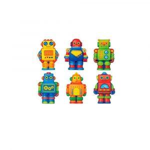 Crea imanes de escayola robots