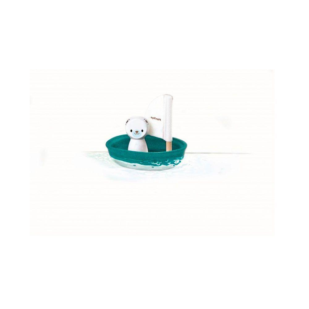 Barco de madera oso polar