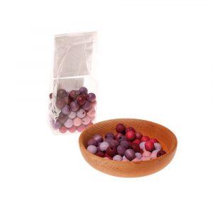 Bolas de madera 12mm rosa-lila