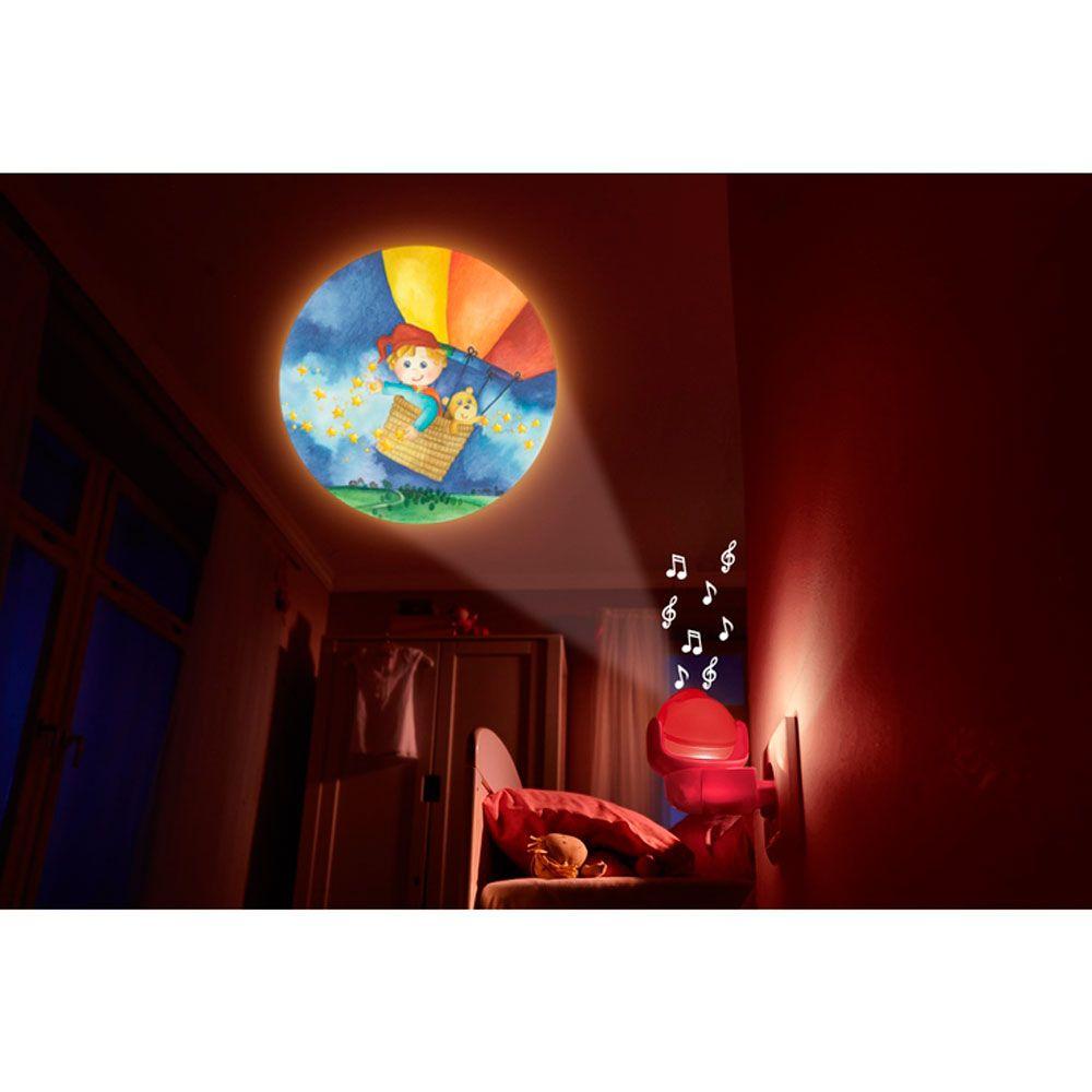 Lámpara con imágenes y música