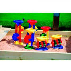 Set de seis ruedas de arena y agua