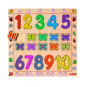 Puzzle encajable del 1 al 10