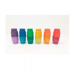 12 cubiletes arcoíris