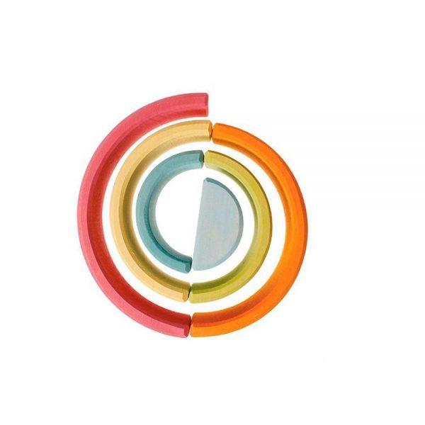 Arcoíris mediano tonos pastel