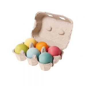 Bolas de madera tonos pastel