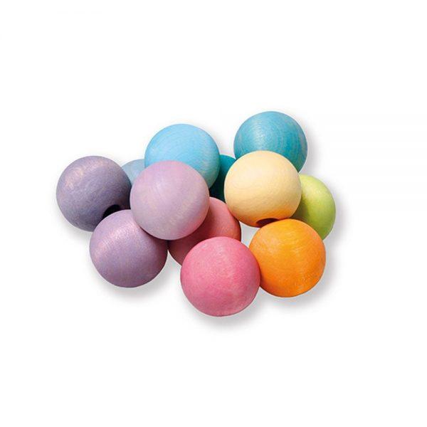 Bolitas arcoíris tonos pastel