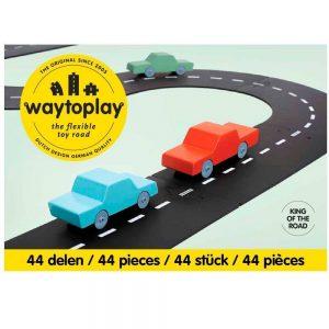 Carretera flexible de caucho 44 piezas