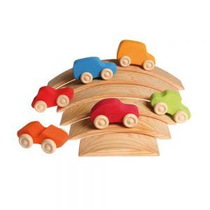 Conjunto de coches de colores