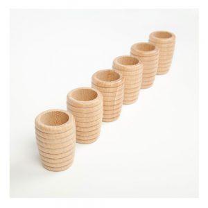 Cubilete espiral de madera