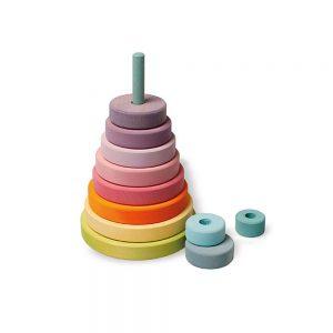 Torre cónica tonos pastel