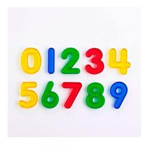 Números de colores translúcidos