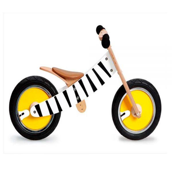 Bicicleta sin pedales cebra