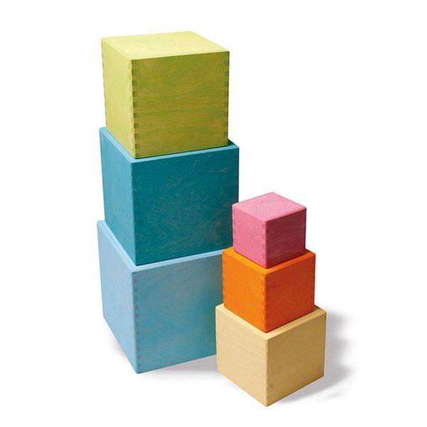 Cubos apilables pastel