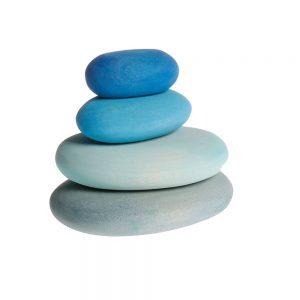 Piedras del madera azules
