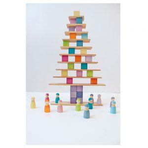 36 cubos en tonos pastel
