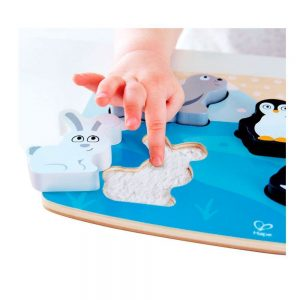 Puzzle táctil animales polares